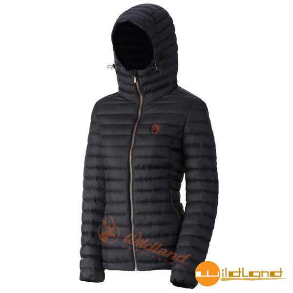 【wildland 荒野】女700FP連帽輕時尚羽絨衣『黑色』0A32111 連帽外套 | 羽絨外套 | 保暖外套 | 戶外