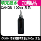 CANON 100CC 灰色 奈米寫真填充墨水