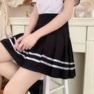 百褶裙 jk制服班服半身裙女2021新款夏黑色表演服套裝裙高腰顯瘦百褶裙子 夢藝家