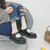 黑色小皮鞋女夏季新款英倫風圓頭jk軟妹復古日系韓版百搭單鞋 瑪麗蘇