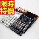 手帕禮盒明星款-造型自用優雅純棉質男士配件4款57r9【時尚巴黎】