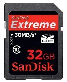 【晶豪泰】SanDisk Extreme SDHC 32G Class10 高速記憶卡 公司貨 終身保固