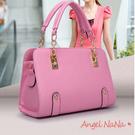 斜背 女手提包包 歐美OL風 時尚鍊條 手提 單肩(都有現貨) AngelNaNa  SBA0081