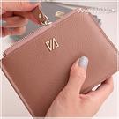 真皮卡包-超輕薄牛皮鉚釘女士皮夾16卡位皮包錢夾零錢包卡片夾卡片包長夾手包男 Angelnana (SMA0214)