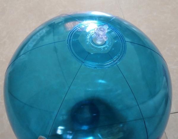 [衣林時尚] 全透明藍沙灘球 海灘球 (充氣後直徑約50cm) 現貨 辦活動專用 可大量訂購 非INTEX商品