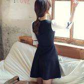 女裝韓版蝴蝶結中袖時尚雪紡裙大碼修身連身裙【韓衣舍】