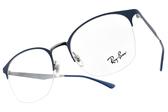 RayBan 光學眼鏡 RB6422 3006 (藍-銀) 經典百搭貓眼款 # 金橘眼鏡