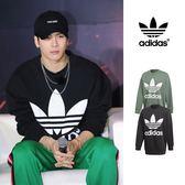 【GT】Adidas Originals 黑綠 衛衣 大學T 運動 休閒 純棉 寬鬆 長袖 上衣 愛迪達 基本款 Logo Oversize
