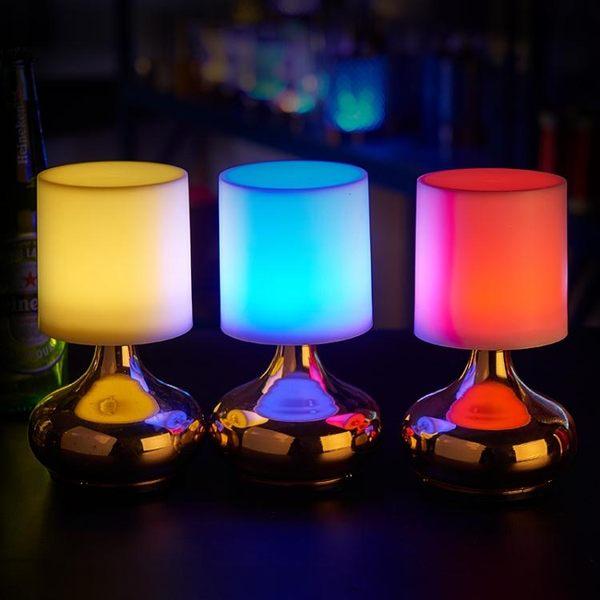 餐吧裝飾led充電吧台燈 創意桌燈發光蠟燭酒吧小夜燈印制logo私人定制WD 電購3C