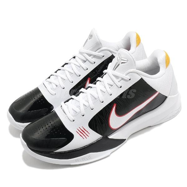 Nike 籃球鞋 Kobe 5 V Protro Bruce Lee Alternate 白 黑 男鞋 李小龍 曼巴 老大 ZK5 運動鞋 【ACS】 CD4991-101