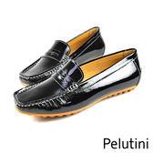 【Pelutini】donna漆亮時尚樂福鞋/女鞋 黑色(9036AW-BL)