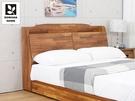 【多瓦娜】MIT利拉工業日式5尺木面床頭箱-二色-036
