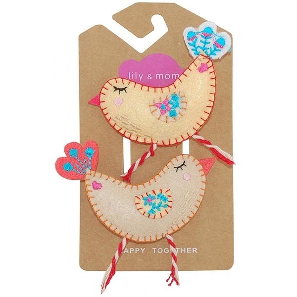 【美國 Lily & Momo】手工童趣髮飾- 小鳥啾啾 #HCA313