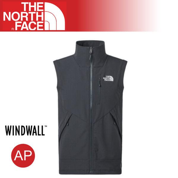 【The North Face 男 防風背心《黑》】3VQL/WindWall/運動版型/登山/健行/防潑水