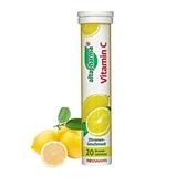 德國ROSSMANN 發泡錠-維他命C檸檬20顆/管【德潮購】