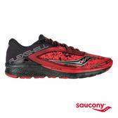SAUCONY KINVARA 7 RUNSHIELD 防潑水輕量緩衝專業訓練鞋-黑x紅x潑墨