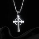 【5折超值價】鈦鋼十字架個性歐美嘻哈鈦鋼男款項鍊