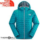【The North Face 男 ThermoBall暖魔球 保暖兜帽外套 瓷釉藍】 C938/暖魔球外套★滿額送