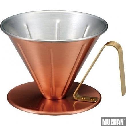 日本燕三条製 田邊金具 1-2人份 純銅 V60 手沖咖啡濾杯  底部收合流速穩定 現貨