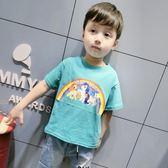 男童短袖T恤夏裝正韓寶寶卡通打底衫兒童半袖上衣潮【全館滿一元八五折】