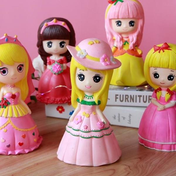 石膏娃娃涂色全套彩繪色的畫顏料塑料手鴉存錢罐兒童網紅玩具擺攤