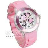 Disney 迪士尼 可愛米妮卡通手錶 閃燈 兒童手錶 橡膠 粉紅 DU7-3202米妮