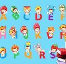 預購-娃娃英文字母兒童房幼兒園牆壁貼紙三代環保牆貼