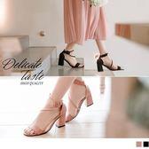 《SD0196》絨面繞繩造型粗跟涼鞋/高跟鞋 OrangeBear