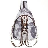 棉麻後背包-多用途水墨畫手工編織女雙肩包73ws47[時尚巴黎]