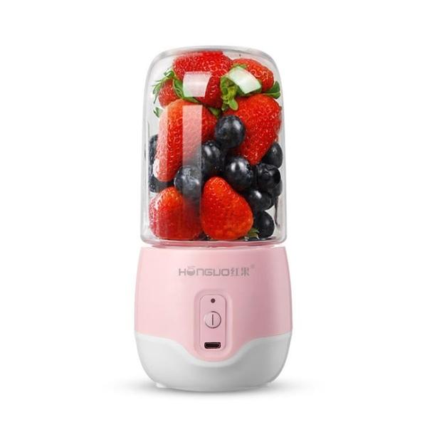 榨汁機 HONGUO/紅果 HG-ZZ-185便攜充電式榨汁機小型榨汁杯電動果汁機 米家