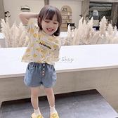 女童洋氣牛仔短褲2021夏裝新款兒童裝寶寶寬鬆顯瘦熱褲薄款褲子潮 快速出貨