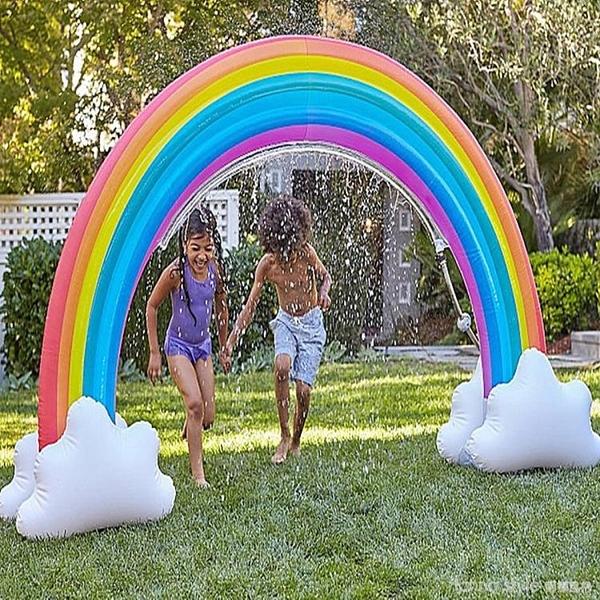 公園水上樂園充氣噴水彩虹拱門風水流水噴泉擺件兒童戶外戲水玩具 年終大促 YTL