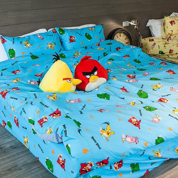 被套 / 單人【憤怒鳥-兩色可選】可愛卡通Angry Birds,磨毛工法,戀家小舖台灣製