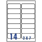 Unistar 裕德3合1電腦標籤紙 (19)US4678 14格 (20張/包)