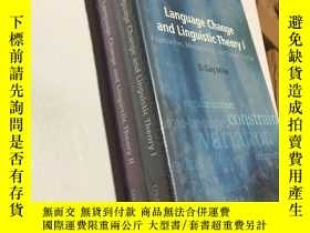 二手書博民逛書店language罕見change and linguistic theory(語言變化與語言理論1.2冊合售)