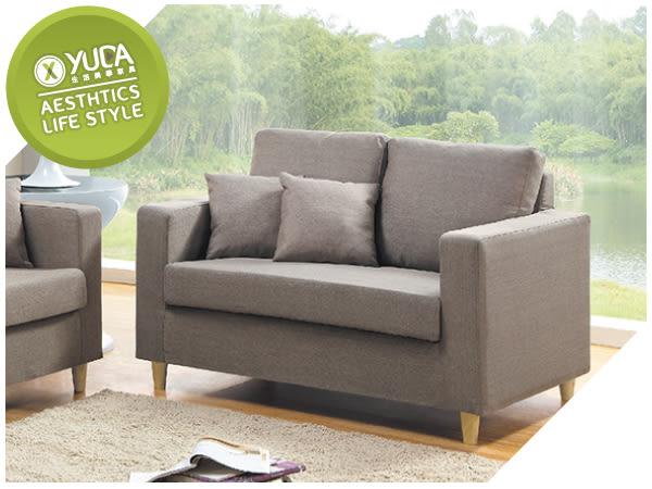 沙發【YUDA】傑西 獨立筒坐墊 亞麻布 沙發椅 雙人 二人 布沙發/沙發椅 I8X 602-102