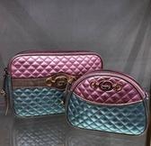 ■ 專櫃61折 ■ Gucci GG馬銜環繽紛金屬菱格紋復古貝殼包