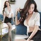 天使波堤【LD0096】開衫綁帶制服+短...