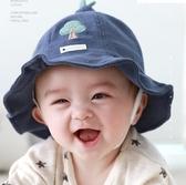 全館83折嬰兒帽子夏季薄款遮陽帽新生兒寶寶防曬帽男女兒童太陽帽漁夫帽春