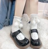 娃娃鞋 大頭鞋女新款日系可愛圓頭小皮鞋黑色軟妹洛麗塔厚底娃娃單鞋 - 風尚3C