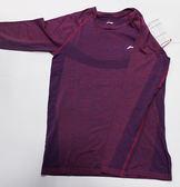 [陽光樂活=]LI-NING李寧 一體織長袖訓練服 熱身服 LNATLM111-1紫色/灰色