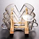杯架 家用杯架茶具木制倒掛瀝水水杯架子防塵茶杯玻璃杯創意收納置物架 生活主義