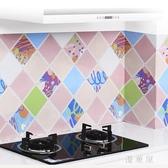 廚房防油貼紙耐高溫櫥柜灶臺用自粘防水防油煙機鋁箔瓷磚墻貼壁紙 QG4699『優童屋』