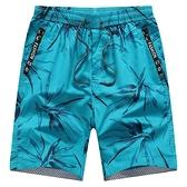 男士短褲五分褲夏季純棉休大褲頭男外穿加肥加大碼沙灘褲男寬鬆 快速出貨
