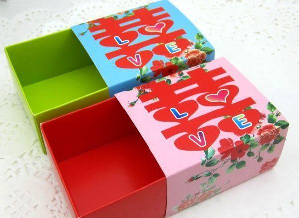 (免費摺喜糖盒)牡丹囍字LOVE喜糖盒 /100入~~