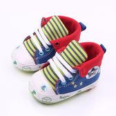 學步鞋 韓 寶寶成長鞋 卡通塗鴉 反折款 BABY 紅色 童鞋 寶貝童衣