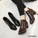 率性亮皮尖頭短靴KYK822黑/棕PAP...