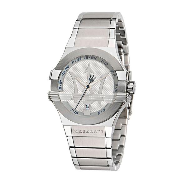 MASERATI WATCH 瑪莎拉蒂手錶 R8853108002 經典大三叉 銀鋼錶帶款 錶現精品 原廠正貨