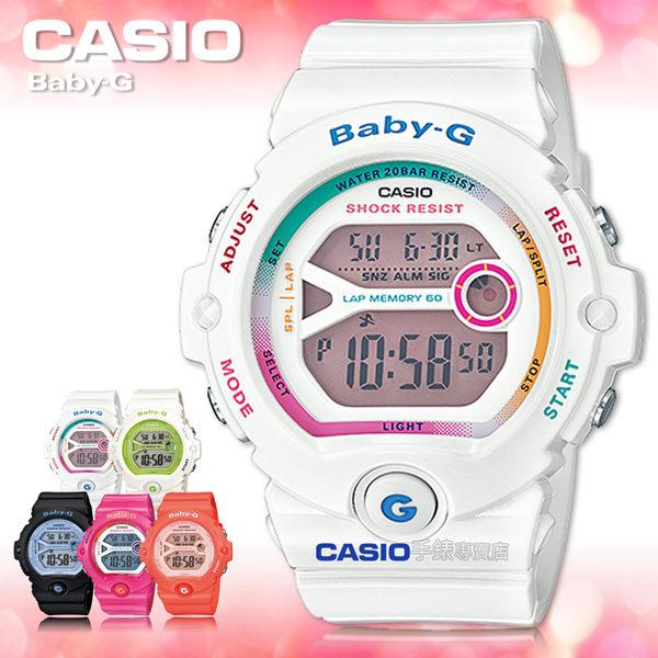 CASIO卡西歐 手錶專賣店  Baby-G BG-6903-7C 女錶 電子錶 繽紛嫩彩 運動 礦物玻璃 防水200米 膠質錶帶