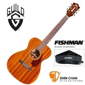 【美國經典品牌】 Guild M-120E 可插電全單板吉他 Fishman拾音器 (OM桶身)